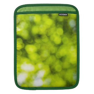 Green  Light Sparkles Design iPad Sleeves
