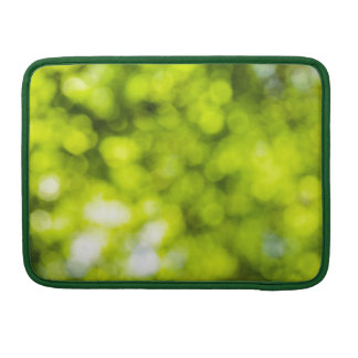Green  Light Sparkles Design Sleeve For MacBook Pro