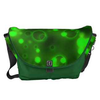 Green Lights Polka Dot Pattern Commuter Bags