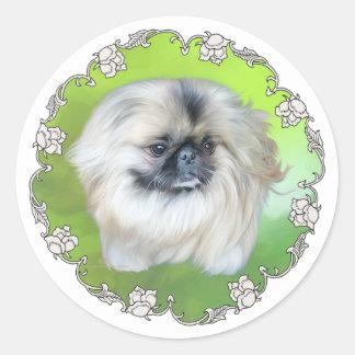 Green Lilly Classic Round Sticker