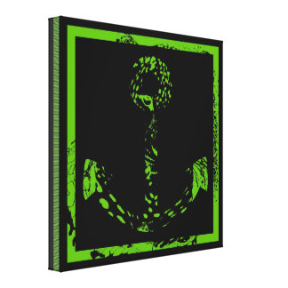 Green Lime Anchor Fine Art Gallery Wrap Canvas