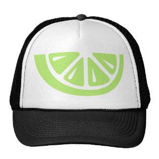 Green lime mesh hats