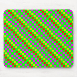 Green Lime Multicolored Rhombus Mousepad