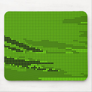 GREEN LIME NEON RETRO DOTS ART MOUSE PAD