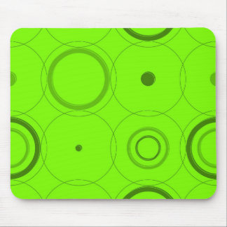 Green, Lime Retro Pop Squares Abstract Art Mouse Pad