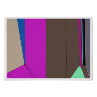 Green Line Abstract Expression Poster