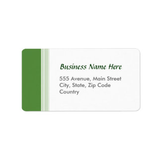 Green Lined Address Label