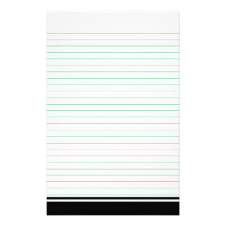 Green Lined Paper for Notes Stationery