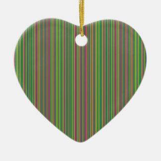 Green lines ceramic heart decoration