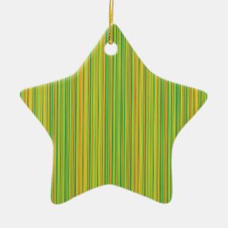 Green lines ceramic star decoration