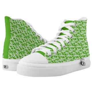 Green Lines Kicks High Tops