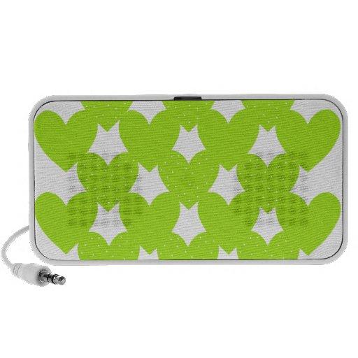 Green Linked Hearts Mini Speaker