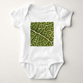 green linked tubes baby bodysuit