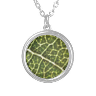 green linked tubes silver plated necklace