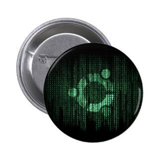Green Linux Terminal Pinback Button