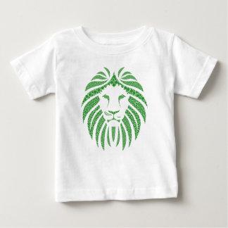 Green Lion Head Baby T-Shirt
