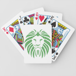 Green Lion Head Bicycle Playing Cards