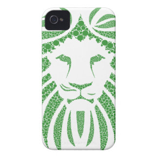 Green Lion Head iPhone 4 Case-Mate Cases