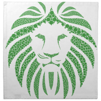 Green Lion Head Napkin