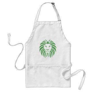 Green Lion Head Standard Apron