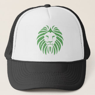 Green Lion Head Trucker Hat