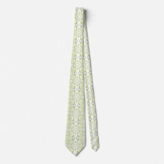 Green Lion Patterned Tie