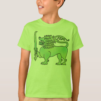 Green Lion Sri Lanka kids  t-shirt