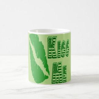 green lips kiss me mug