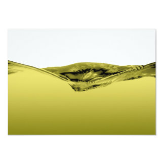 Green liquid wave 13 cm x 18 cm invitation card