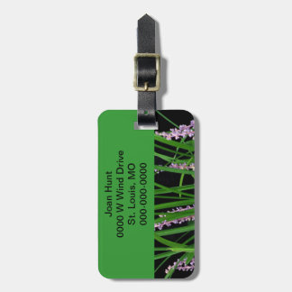 Green Lirope Grass Luggage Tag