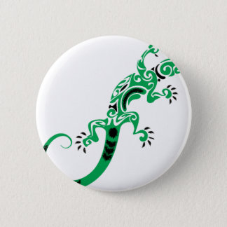 Green Lizard Drawing 6 Cm Round Badge