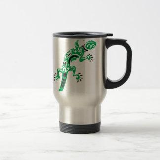 Green Lizard Drawing Travel Mug