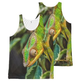 Green Lizard Iguana Photography Print All-Over Print Singlet