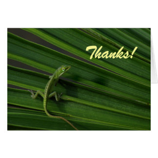 Green Lizard Thank You card