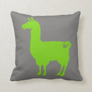 Green Llama Pillow