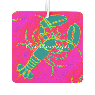green lobster pink Thunder_Cove Car Air Freshener