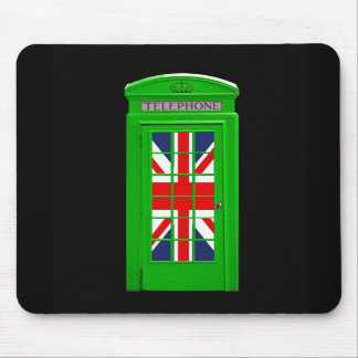 Green London phone box Mouse Mat