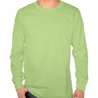 Green long sleeve golf tee Game On.
