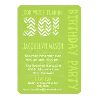 Green Look Who's Turning 30 Birthday Invitation