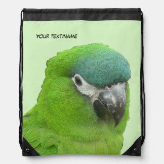 Green Lorikeet Drawstring Backpack