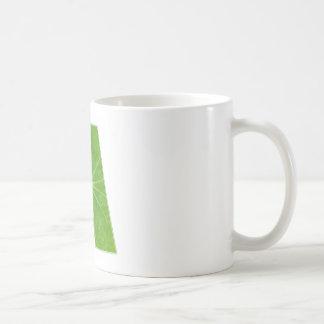 Green Lotus Leaf n Sparkle AAA Fine Alphabet Coffee Mugs