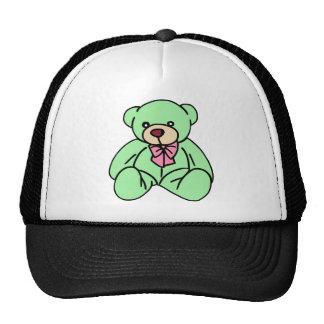 Green Lovable Teddy Bear Cap