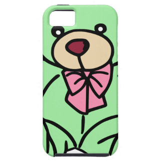 Green Lovable Teddy Bear iPhone 5 Covers