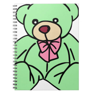 Green Lovable Teddy Bear Note Books
