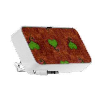Green Love Doodle Custom Speaker