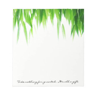 Green lovers leaf canopy notepad
