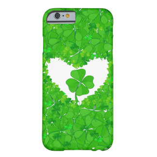 Green Lucky Shamrock Barely There iPhone 6 Case