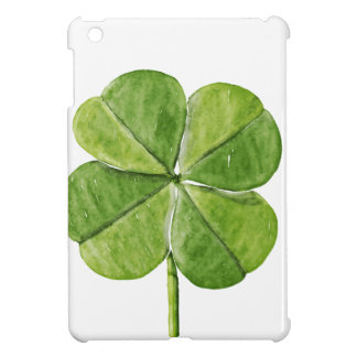 Green lucky shamrock clover Saint Patrick Day iPad Mini Cover