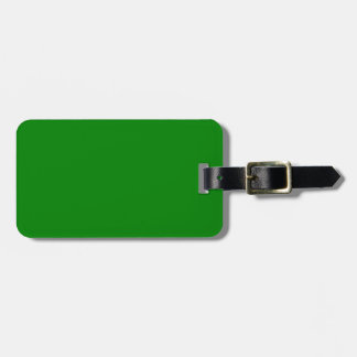 Green Luggage Tag
