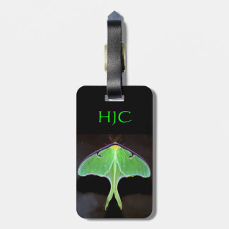 Green Luna Moth Luggage Tag